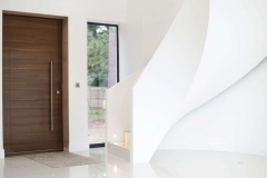 Contemporary staircase in Farnham new build