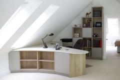 Home office in contemporary Farnham new build