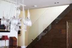 New glass stairs in the Wimbledon refurbishment
