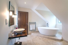 Luxury bathroom of new build house Farnham Surrey