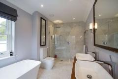 Luxury bathroom of new build house Farnham Surrey