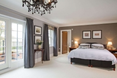 Master bedroom of new build house Farnham Surrey